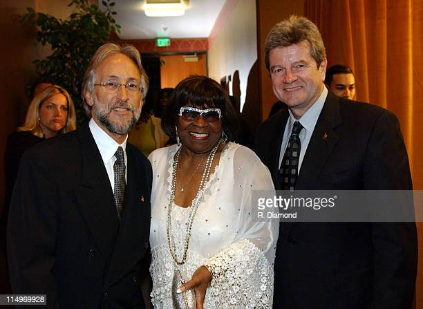 Neil Portnow Albertina Walker and Daniel Carlin during The Recording Academy Presents 2005 GRAMMY Salute to Gospel Music at West Angeles Church in...