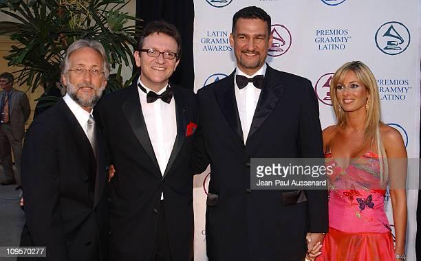 Neil Portnow Gabriel Abaroa President of the Latin Recording Academy Kike Santander and wife Adriana