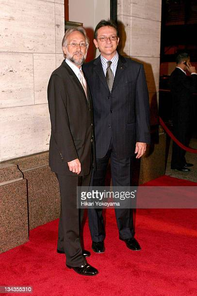 Neil Portnow President of the National Academy of Recording Arts and Sciences and Gabriel Abaroa President of the Latin Recording Academy