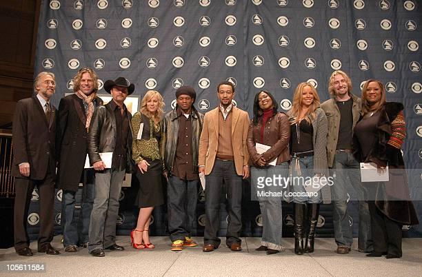 Neil Portnow President of The Recording Academy Big Kenny and John Rich Natasha Bedingfeild Sway John Legend CeCe Winans Mariah Carey Chad Kroeger of...