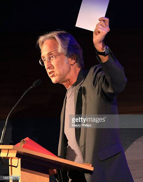 Neil Portnow president of the recording academy speaks during Columbia 360 Sound the Columbia Records Story event at the GRAMMY Museum on November 7...