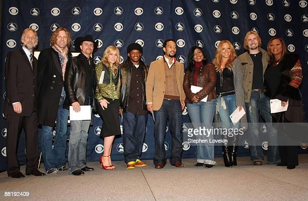 Neil Portnow President of the Recording Academy with Big Kenny Alphin and John Rich of Big Rich Natasha Bedingfield Sway John Legend CeCe Winans...
