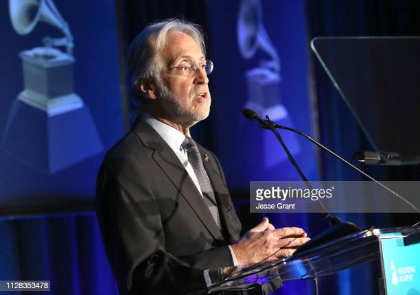 Neil Portnow President/CEO of the Recording Academy speaks onstage during the 61st Annual GRAMMY Awards Entertainment Law Initiative at the Fairmont...