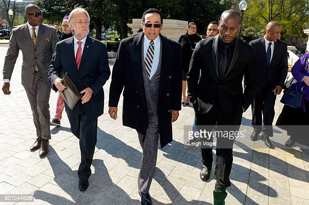 Neil Portnow Smokey Robinson and Tyrese Gibson attend meetings during GRAMMYs on the Hill Advocacy Day on Capitol Hill on April 14 2016 in Washington...