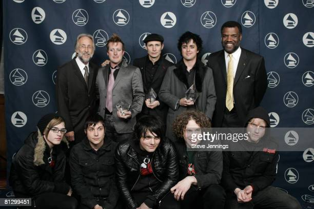 Neil Portnow with members of Green Day and member of My Chemical Romance