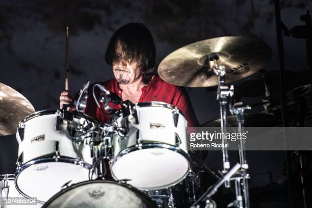 Neil Primrose of Travis performs on stage at The SSE Hydro on December 21, 2018 in Glasgow, Scotland.