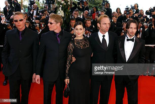 Neil Rayment Adrian Rayment CarrieAnne Moss Hugo Weaving and Keanu Reeves