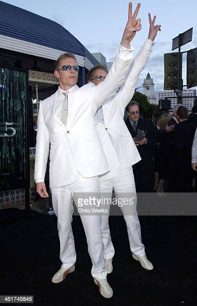 Neil Rayment Adrian Rayment during The Matrix Reloaded Premiere at Mann Village Theater in Westwood California United States