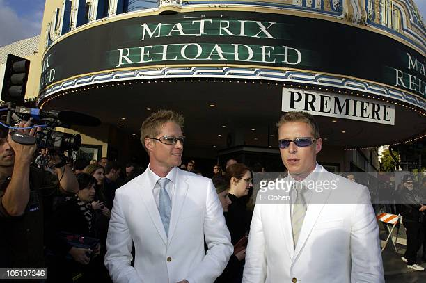 Neil Rayment Adrian Rayment during 'The Matrix Reloaded' Premiere Black Carpet at Mann Village Theater in Westwood California United States