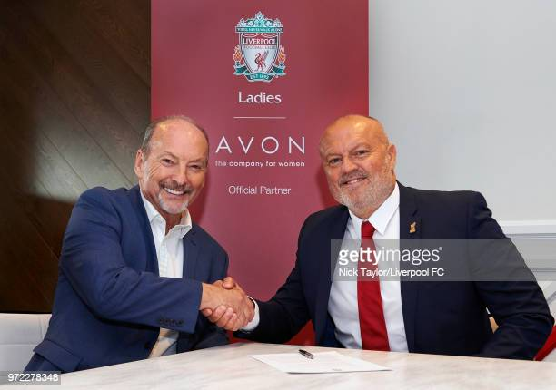 Neil Redfearn becomes the new manager of Liverpool Ladies with Liverpool FC CEO Peter Moore at Anfield on June 8 2018 in Liverpool England
