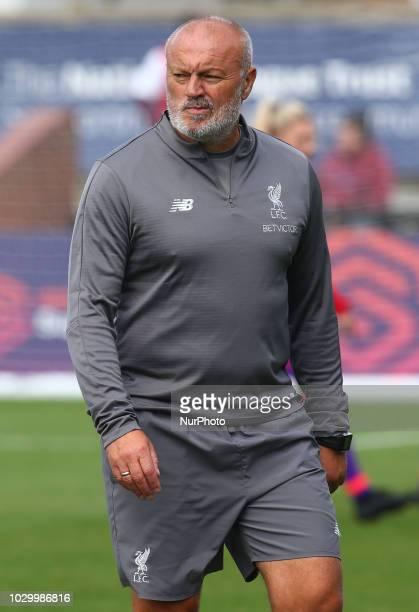 Neil Redfearn Coach of Liverpool FC Women during Women's Super League One match between Arsenal and Liverpool FC Women at Boredom Wood Boredom Wood...