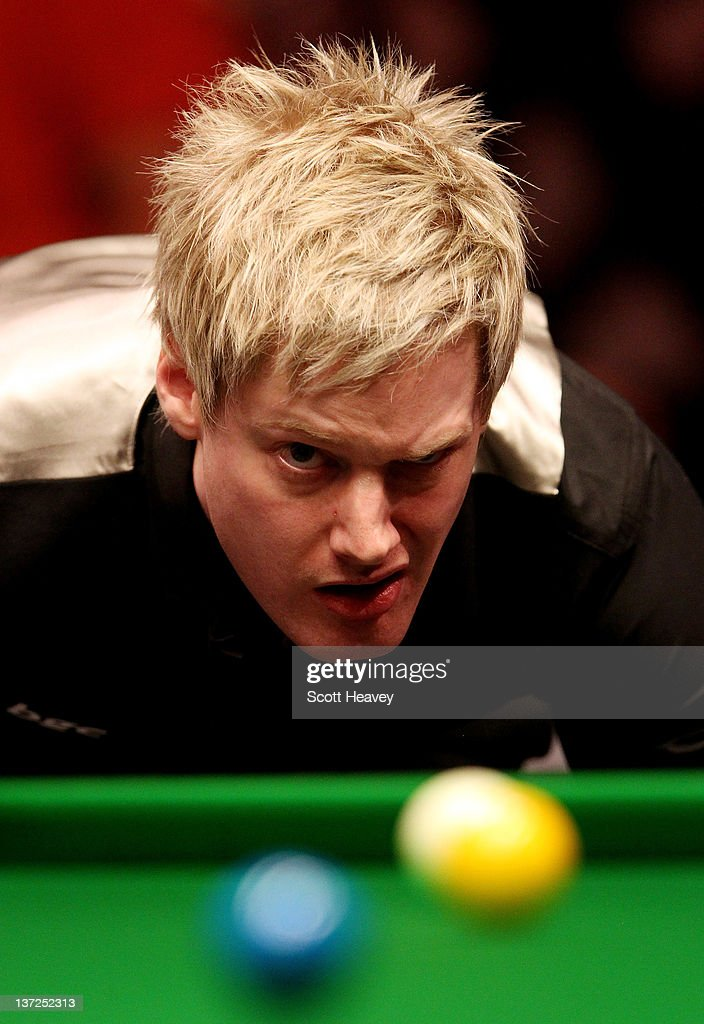 Neil Robertson in action during his match against Mark Allen during day three of the The Masters at Alexandra Palace on January 17, 2012 in London, England.