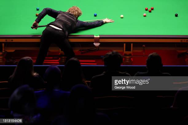 Neil Robertson of Australia in action during the Betfred World Snooker Championship Round One match between Liang Wenbo of China and Neil Robertson...