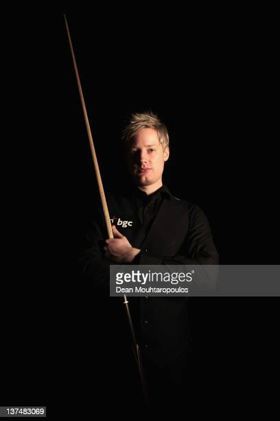Neil Robertson of Australia poses after victory in his Semi Final match with Judd Trump of England during day 7 of The Masters at Alexandra Palace on...