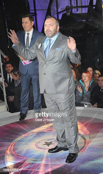Neil Ruddock enters the Celebrity Big Brother House at Elstree Studios on January 3 2013 in Borehamwood England