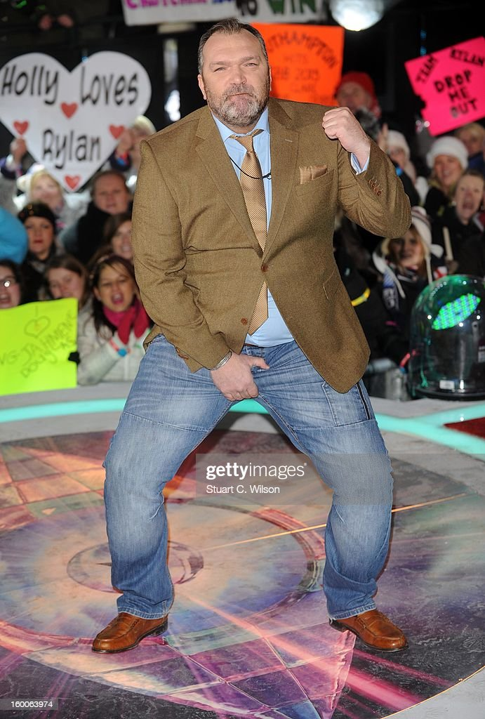 Neil Ruddock is evicted from the Celebrity Big Brother House at Elstree Studios on January 25, 2013 in Borehamwood, England.