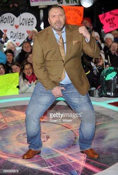 Neil Ruddock is evicted from the Celebrity Big Brother House at Elstree Studios on January 25 2013 in Borehamwood England