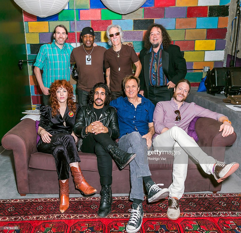 Neil Schield, Chuck D, John Densmore, Marc Weinstein, (Front row L-R) Julie Edwards, Samuel Lopez, Michael Thompson and Michael Kurtz attend the Record Store Day LA Press Conference 2014 at Amoeba Music on March 20, 2014 in Hollywood, California.