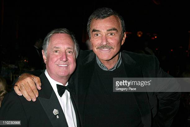"""Neil Sedaka and Burt Reynolds during The Actors Fund """"There's No Business Like Show Business"""" Gala at Cipriani 42nd Street in New York City, New..."""