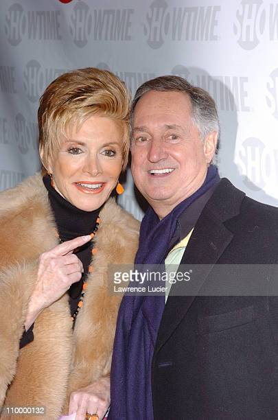 Neil Sedaka and guest during Showtime's Fat Actress New York City Premiere Arrivals at Clearview Chelsea West in New York City New York United States