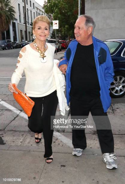 Neil Sedaka and Leba Strassberg are seen on August 11, 2018 in Los Angeles, CA.