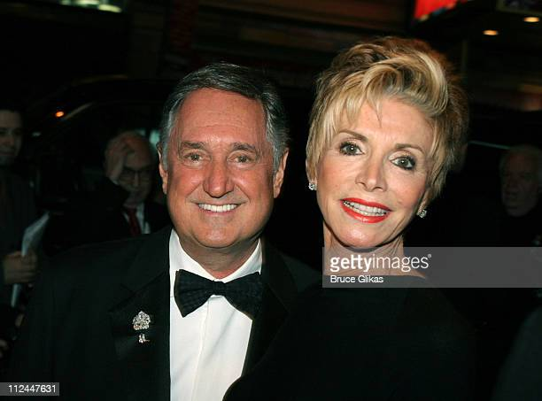 Neil Sedaka and wife Leba during Jersey Boys Broadway Opening Night Arrivals at The August Wilson Theater in New York City New York United States