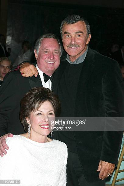 Neil Sedaka Burt Reynolds and guest during The Actors Fund There's No Business Like Show Business Gala at Cipriani 42nd Street in New York City New...
