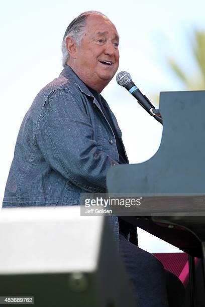 Neil Sedaka performs at the 2015 Ventura County Fair at Seaside Park on August 11, 2015 in Ventura, California.