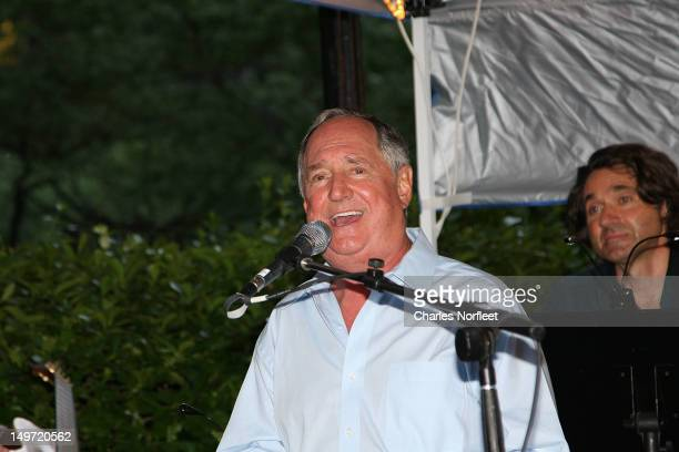 Neil Sedaka performs at The Concerts for City Greens 2012 presents a Tribute to the Music of Neil Sedaka at Tudor City Greens Park on August 2 2012...