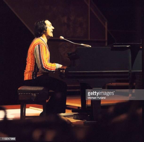 Neil Sedaka performs on a TV show London 1974