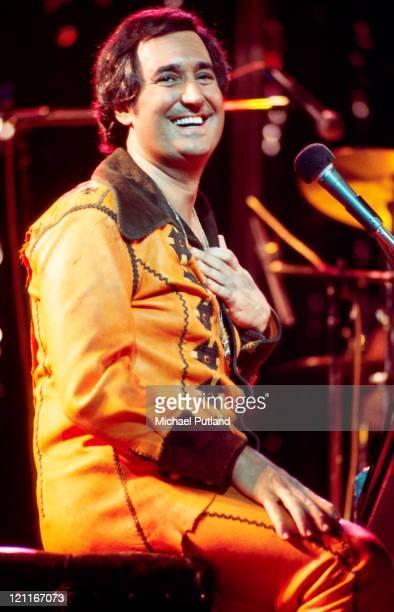 Neil Sedaka performs on stage London April 1977