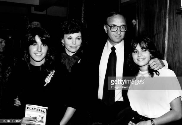 Neil Simon and Family circa 1980 in New York City