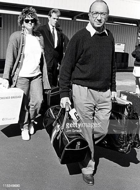 Neil Simon and Wife Diane during Neil Simon and Diane Lander Arriving From NYC At Los Angeles International Airport February 23 1991 at Los Angeles...