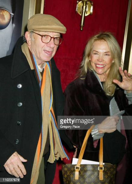 Neil Simon and wife Elaine Joyce during The Aviator New York City Premiere Inside Arrivals at Ziegfeld Theater in New York City New York United States