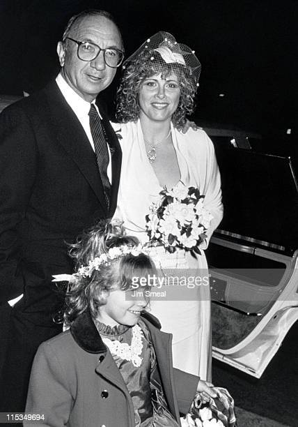 Neil Simon Diane Lander and Daughter during Neil Simon Wedding Reception at Bistro Gradens in Beverly Hills California United States