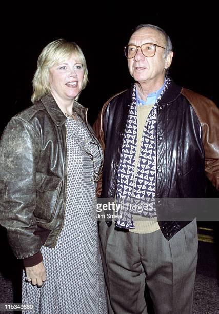 Neil Simon Diane Lander during David Foster/Neil Bogart Memorial Fund at Barker Hanger in Santa Monica California United States