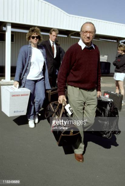 Neil Simon Diane Lander during Neil Simon and Diane Lander Arriving From NYC At Los Angeles International Airport February 23 1991 at Los Angeles...