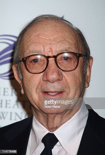 Neil Simon during American Theatre Wing Spring Gala Honoring Matthew Broderick and Nathan Lane April 10 2006 at Ciprianis 42nd Street in New York...