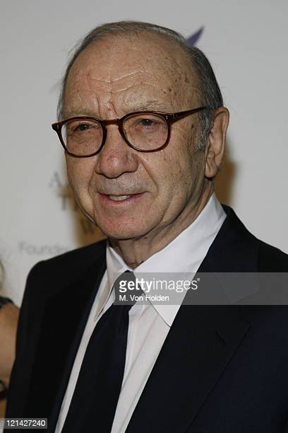 Neil Simon during The American Theatre Wing's Annual Spring Gala honoring Matthew Broderick and Nathan Lane at Cipriani's at 42nd Street in New York...