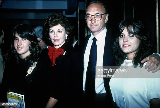 Neil Simon Marsha Mason and daughters circa 1980 in New York City
