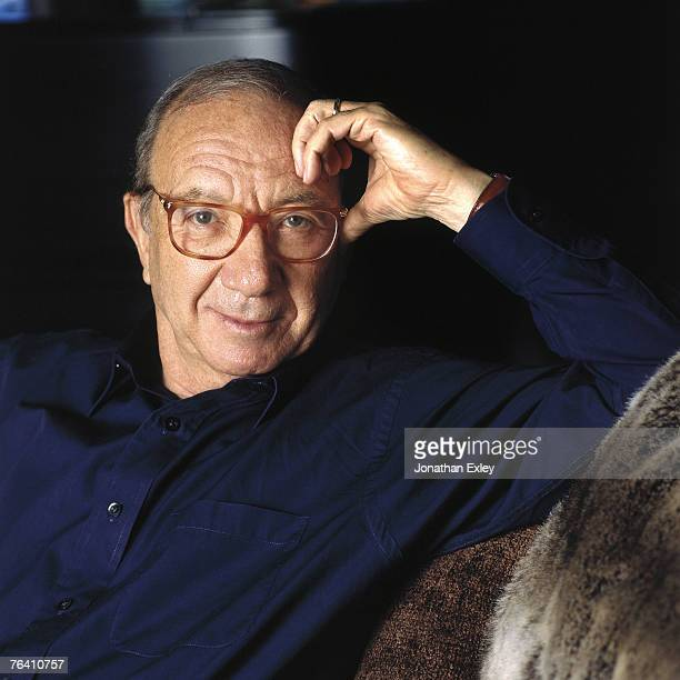 Neil Simon author and play write in his home where he writes and stays when he's not in New York April 15 1991 Los Angeles Westwood California