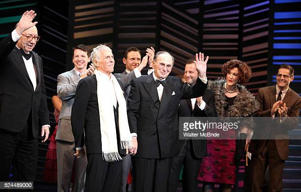 Neil Simon Sean Hayes Hal David Rob Ashford Katie Finneran taking a bow on the Opening Night Broadway performance Curtain Call for PROMISES PROMISES...