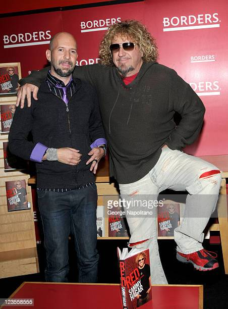 Neil Strauss and Sammy Hagar promote their new books Everyone Loves You When You're Dead and Red My Uncensored Life In Rock at Borders Columbus...