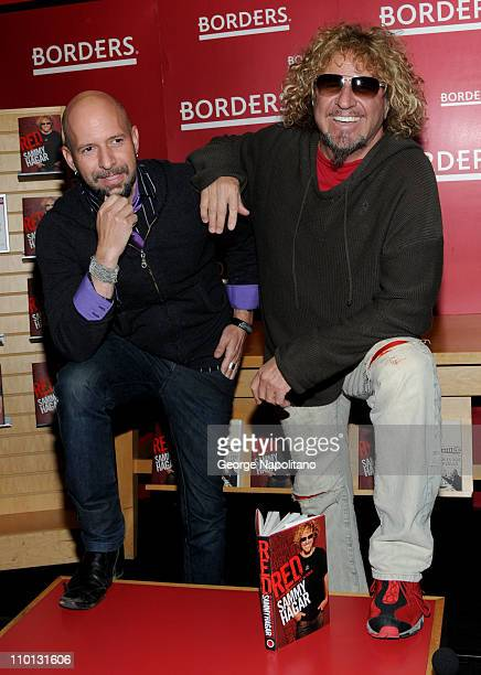 Neil Strauss and Sammy Hagar promotes their new books Everyone Loves You When Your Dead and Red My Uncensored Life In Rock at Borders Columbus Circle...