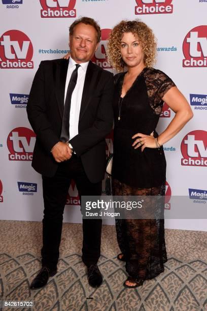 Neil Stuke and Sally Ann Stuke arrive at the TV Choice Awards at The Dorchester on September 4 2017 in London England