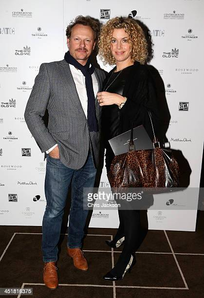 Neil Stuke and Sally Ann Stuke attend the post show party The 25th Hour following The Old Vic's 24 Hour Celebrity Gala 2013 at Rosewood London on...