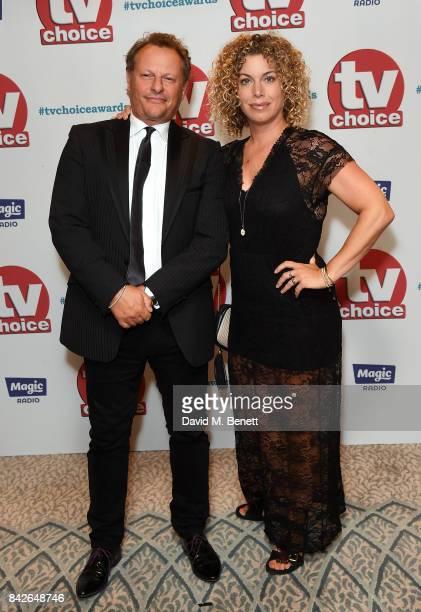 Neil Stuke and Sally Ann Stuke attend the TV Choice Awards at The Dorchester on September 4 2017 in London England