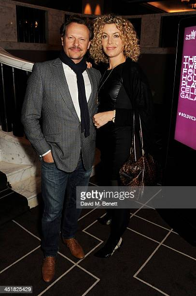Neil Stuke and SallyAnn Stuke attend The Old Vic's 24 Hour Celebrity Gala after party at Rosewood London on November 24 2013 in London United Kingdom