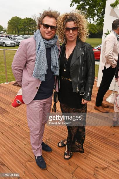 Neil Stuke and wife Sally Ann Stuke attend the Audi Polo Challenge at Coworth Park on May 6 2017 in Ascot United Kingdom