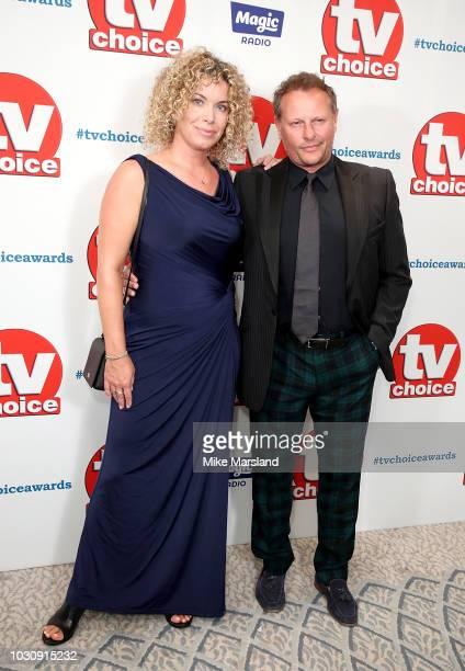 Neil Stuke and wife Sally Ann Stuke attend the TV Choice Awards at The Dorchester on September 10 2018 in London England